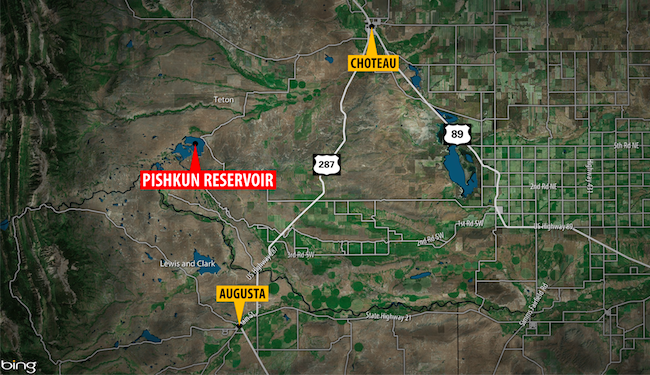 Pishkun Reservoir Map